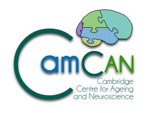 Blue-green logo for CamCAN research project