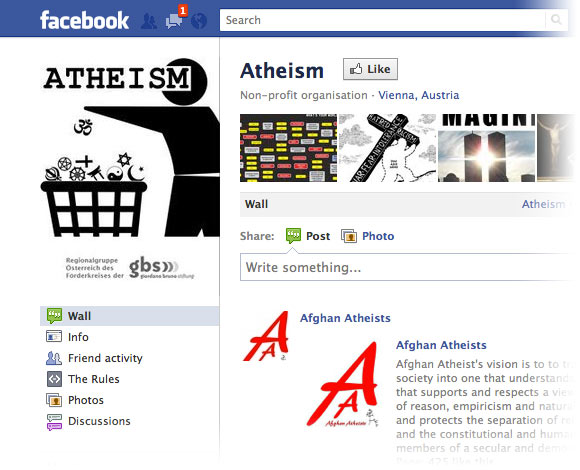 Logo for Facebook Atheists page